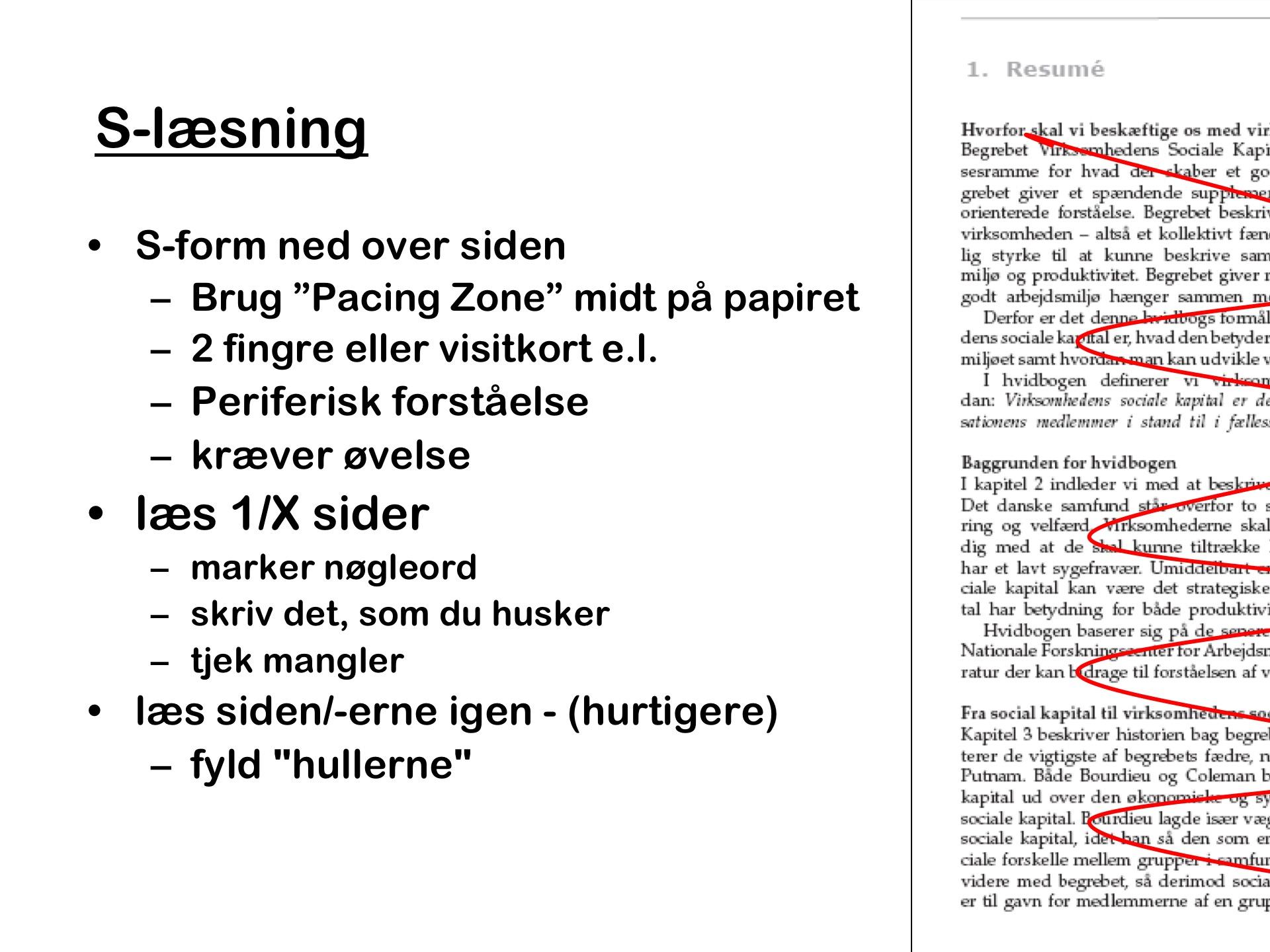 S-læsning - en eller flere sider af gangen